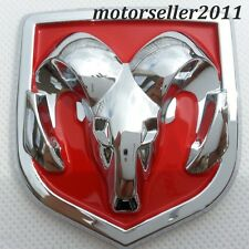 3D Chrome Red Hood Or Trunk Tailgate Fenders Decal Badge Emblem 61x66mm
