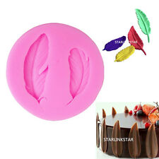 Feather Silicone Mold For Fondant Cake Chocolate Decorating Candy Pastry Mould