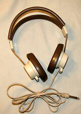 Vintage Telex 610 Headphones Brown Over the Ear Adjustable Retro Audio Clean