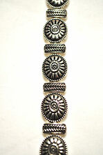 LADIES 7.25 INCH SILVER SUNFLOWERS HEALING MAGNETIC THERAPY LINK BRACELET
