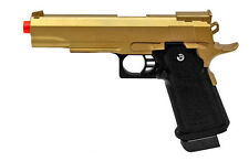 G6 Galaxy Airsoft Spring Pistol Colt 1911 Replica Metal Gun 340 FPS M9 Gold