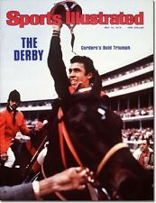 May 10, 1976 Angel Cordero, Horses and Horse Racing Sports Illustrated A