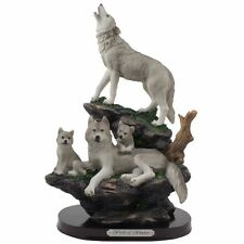 Wolf Nature Predator Hunter Family Howling Wolves Figurine Statue Collectible