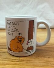 American Greetings Mug Getting Old Is No Damn Fun! Funny Over The Hill Gag Gift