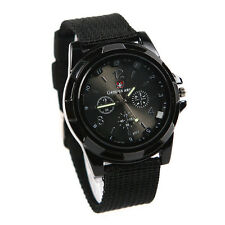gemius army Military Army Pilot Fabric Strap Sports Men Watch Black LW