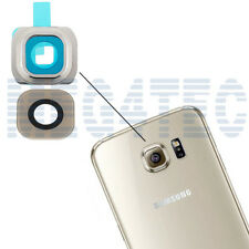 SAMSUNG GALAXY S6 G920F REPLACEMENT GOLD PLATINUM GLASS LENS CAMERA COVER D74