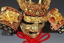 Japanese Fabulous Samurai Helmet -imperial mark with a mask-