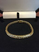 PRINCESS CHANNEL SET LCS DIAMOND TENNIS BRACELET SZ 8 + GIFT! SZ 7 IN OUR STORE