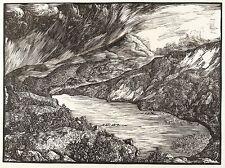 HANS OTTO SCHÖNLEBER - Schneekoppe - Riesengebirge - Holzschnitt 1926