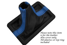 BLUE & BLACK FITS FORD MUSTANG 2005-2009 REAL LEATHER SHIFT BOOT ONLY TWO TONE