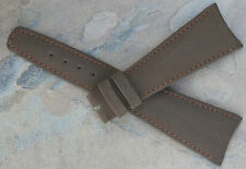 Super rare large lugs 25mm vintage Universal Geneve watch strap in brown suede