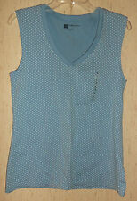 "NWT WOMENS Gap ""FAVORITE STRETCH"" POLKA DOT V-NECK KNIT TOP   SIZE L"