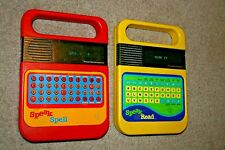 Vintage Texas Instruments Speak and Spell & Read 1978 1980 Electronic Toy LOT 2