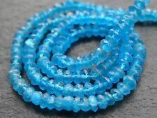 "NEON APATITE RONDELLES, 3.5mm / 4mm, 13"" strand, 140 beads"