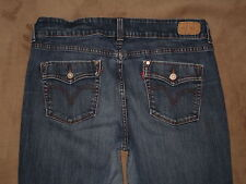 Levis 526 Size 12M Slender Boot Flap Pocket Dark Blue Denim Womens Jeans
