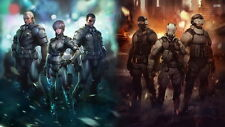 "013 Ghost In The Shell - Mobile Armored Riot Police Anime 43""x24"" Poster"