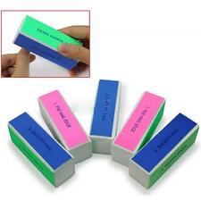 5 Pcs Nail Art Manicure 4 Way Shiner Buffer Buffing Block Sanding File uf