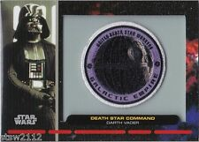 STAR WARS GALACTIC FILES PR-24 EMBROIDERED PATCH DEATH STAR COMMAND DARTH VADER