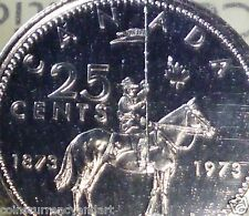 1973 CANADA 25 CENTS -LARGE BUST