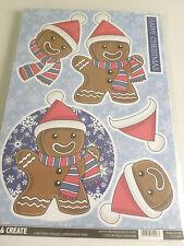 Nuevo-craftstyle-Decoupage & Sentimiento-Gingerbread Man-Excelente Para Niños