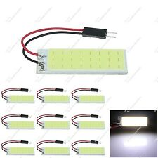 10X White Auto 24 Chips COB LED Panel Dome Lamp With Festoon T10 Adapter ZJ306