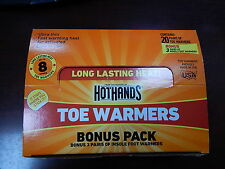 Heatmax HotHands Toasti Toes Heat Toe Warmers 20 pairs Fresh till 08/2018 8 Hour