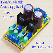 Assembled LM317 LM337 DC Adjustable Regulated Power Supply Module Board 1.5A