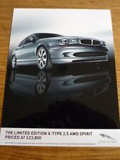 JAGUAR LIMITED EDITION X TYPE 2.5 AWD SPIRIT PRESS PHOTO 'BROCHURE CONNECTED '