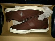 Genuine New in box polo Ralph Lauren Trainers shoes UK 9 Hanford Brown Red Wine