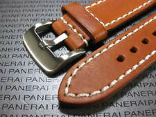 26mm NEW COW LEATHER STRAP Gold Brown Watch BAND PAM 26 mm LB