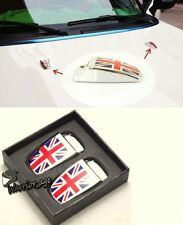 2PCS WINDSHIELD WASHER WIPER WATER SPRAY NOZZLE COVER UNION JACK For MINI COOPER