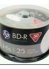 50 x HP vierge imprimable blu ray bd-r disques