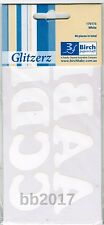 Iron On Letters 1 Pack 40 x 35mm Alphabet White Matt Transfer to Dark  Fabric