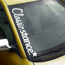 CLASSIC STANCE Aufkleber Frontscheibe  stanceworks sticker cambergang low f156