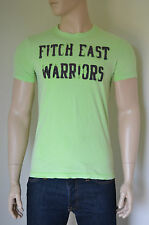 NEW Abercrombie & Fitch Iroquois Mountain Destroyed Green Warriors Tee T-Shirt L