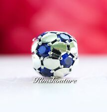 Authentic Pandora Charm Soccer Ball Blue CZ 790444CZB