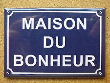 MAGNET DECORATION EPAIS 7.8x5.4cm MAISON DU BONHEUR cadeau décoration humour