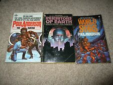 Poul Anderson Lot Of 3 PB Inheritors Of Earth, The Avatar, World Without Stars