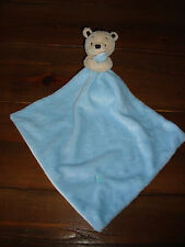TESCO F&F BLUE TEDDY COMFORT BLANKET / BLANKIE /  PLUSH TOY VGC