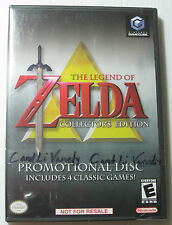 LEGEND OF ZELDA COLLECTOR'S EDITION PROMOTIONAL DISC 4GAME NINTENDO GAMECUBE -FS