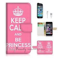 iPhone 6 6S Plus (5.5') Flip Wallet Case Cover! P1449 Keep Calm Princess