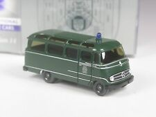 selten: Wiking Werbemodell Mercedes O 319 Bus Polizei in OVP, limitiert