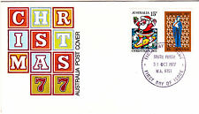 1977 Christmas FDC - South Perth WA 6151 PMK