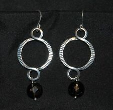 SILPADA - W1485 - Smoky Quartz Beads Sterling Silver Earrings - RET