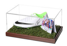Neymar Jr Signed Football Boot Display Case Barcelona Autograph Memorabilia COA