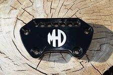 MHD HARLEY SPORTSTER HANDLEBAR BAR CLAMP W/ INDICATOR MOUNT BLACK