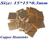 10pcs Hearsinks&Cooling Copper Heatsinks Pad Shim laptop CPU Size:15*15*0.3mm