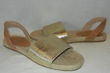 Soludos Women's Jupiter Metallic Leather Slingback Sandals Retail $75 size 10