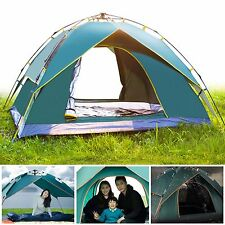 Outdoor 3-4 Persons Waterproof  Double Layer Instant Sports Dome Camping Tent