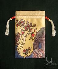 """""""The Seven Hearts"""" - silk Tarot bag"""